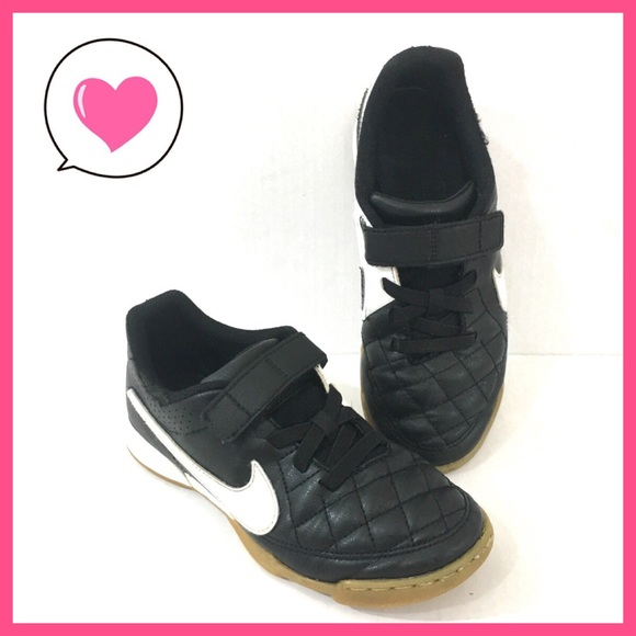 Nike Other - Nike kids tiempo Black white velcro Sneakers 3
